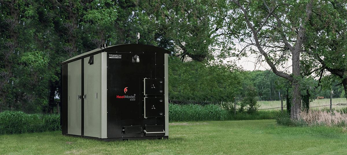 HeatMasterSS B500 outdoor furnace on homestead