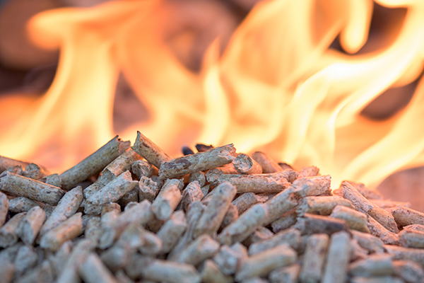 Wood pellets fuel for HeatMasterSS outdoor pellet stove