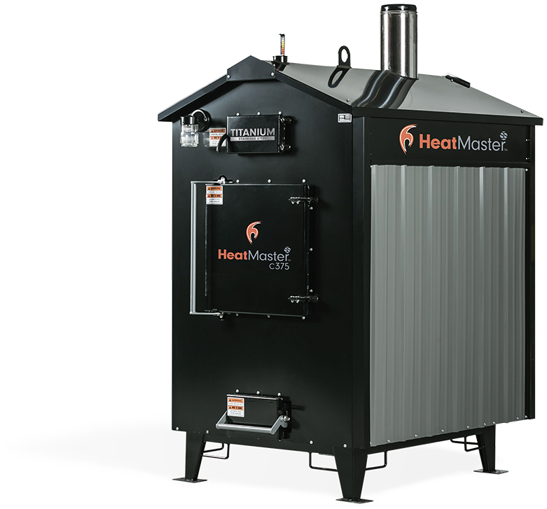 HeatMaster C375 outdoor wood furnace