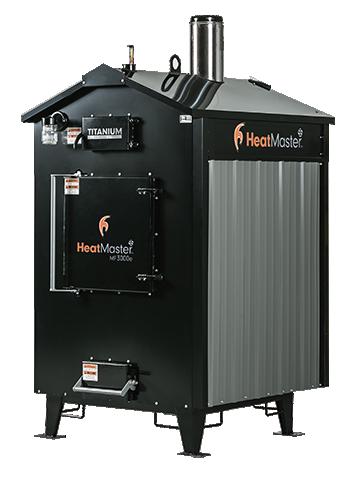 HeatMater MF 3000e outdoor wood furnace